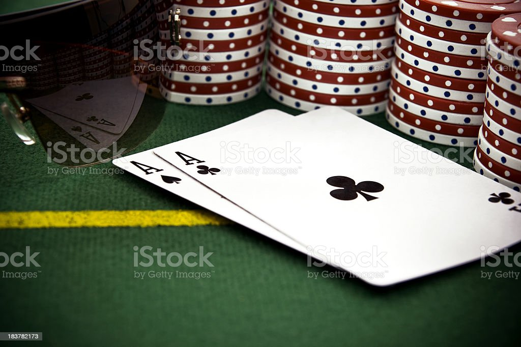 Two Aces with the Reflection in Sunglasses stock photo