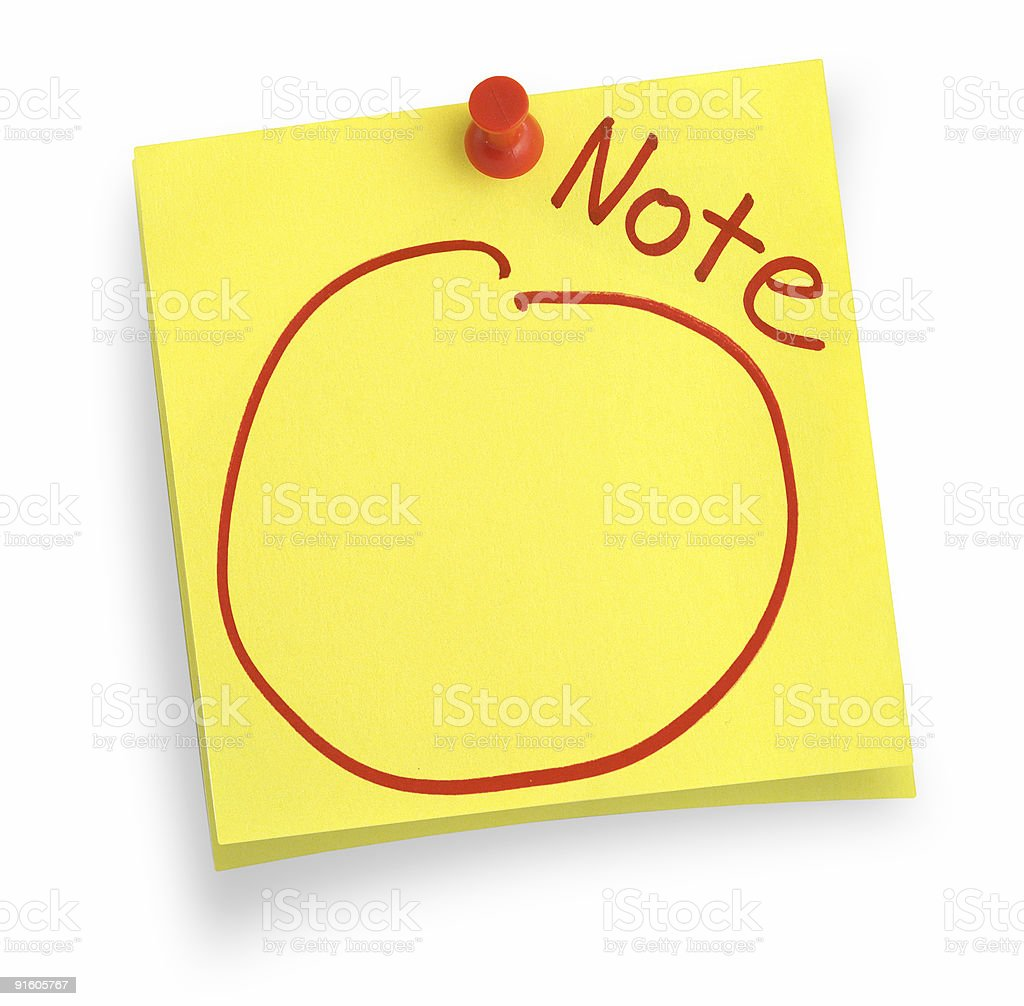 two adhesive notes stock photo