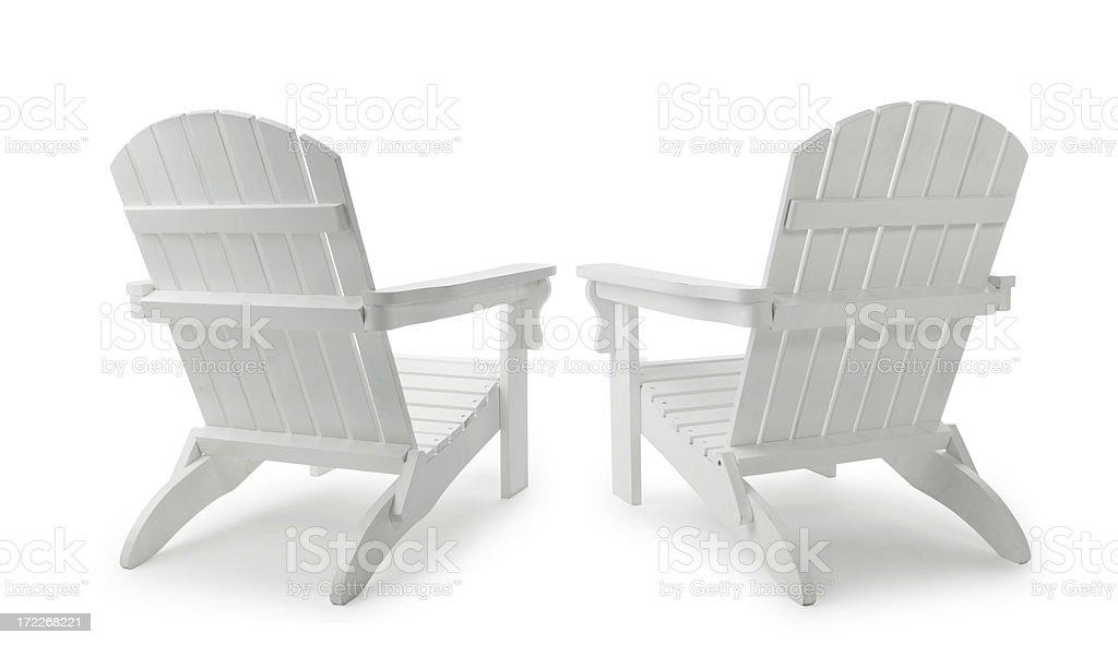 Two Adirondack Chairs stock photo