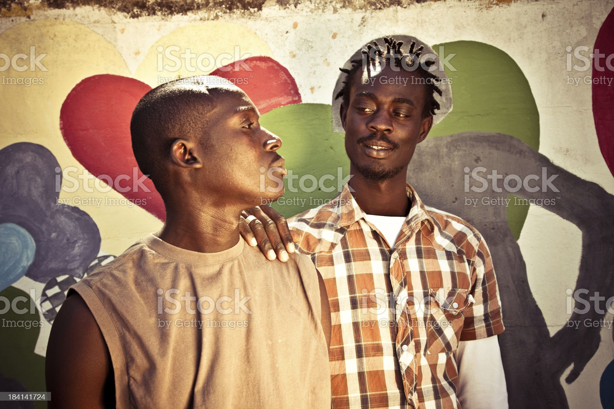 Two Africans Men royalty-free stock photo