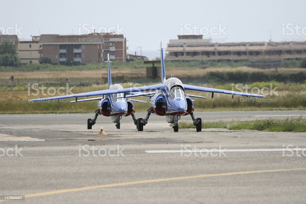 Two Aircraft, Patrouille de France royalty-free stock photo