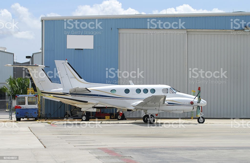 Two airplanes royalty-free stock photo