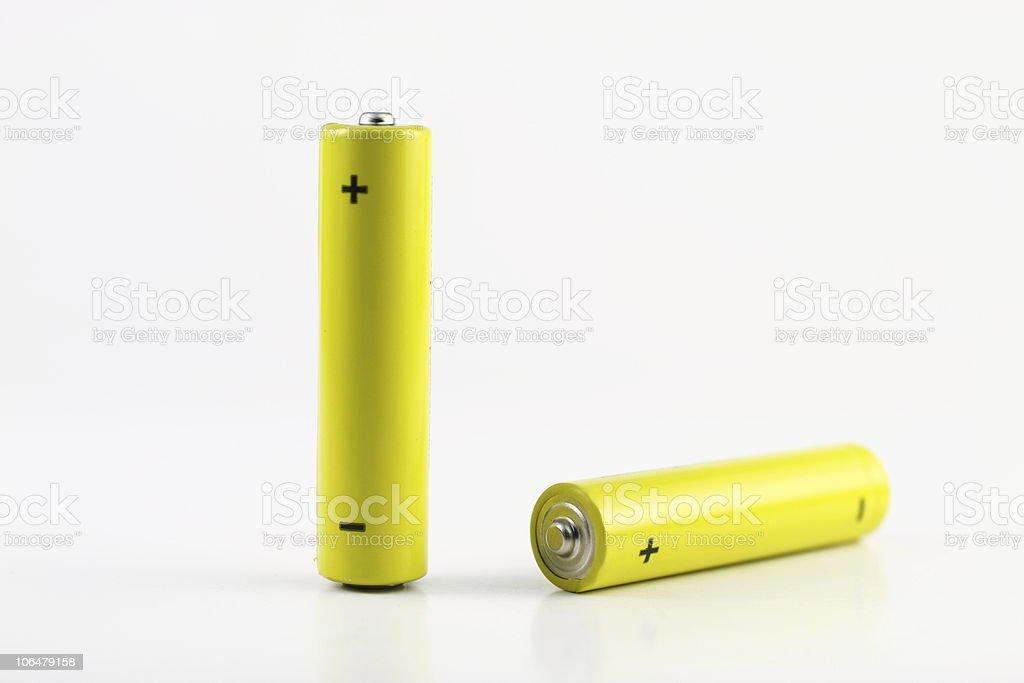 Two alkaline battery stock photo