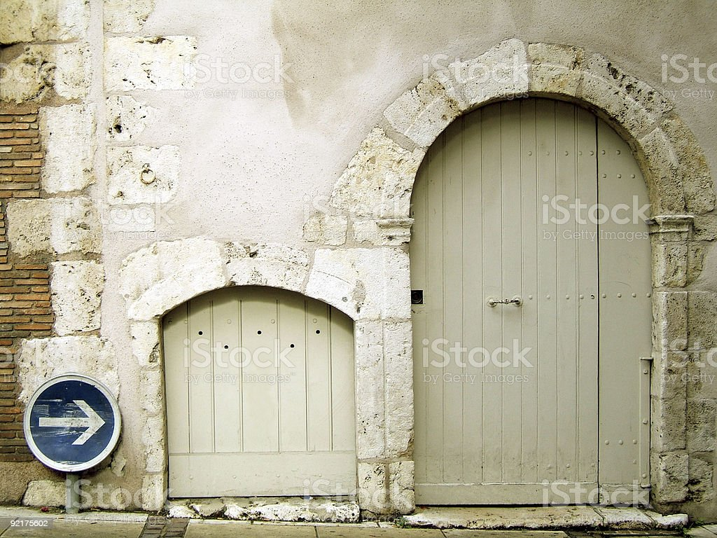 Two ancient entrance royalty-free stock photo