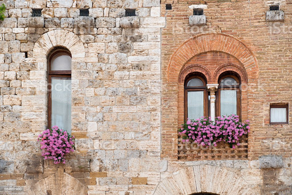 Two ancient windows royalty-free stock photo