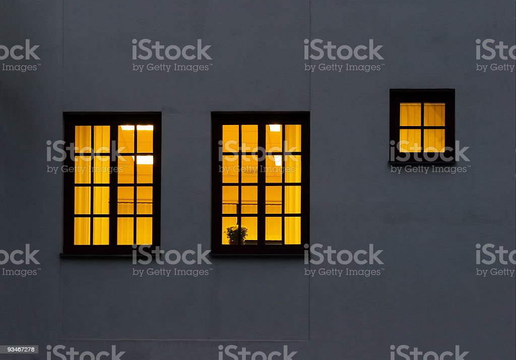 Two and a half windows royalty-free stock photo