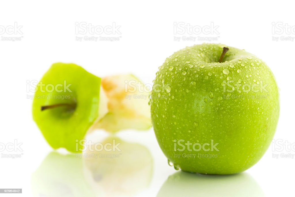 two apples royalty-free stock photo