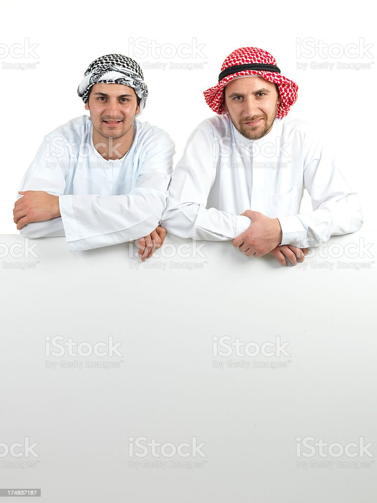Two Arabian Young Adult Man royalty-free stock photo