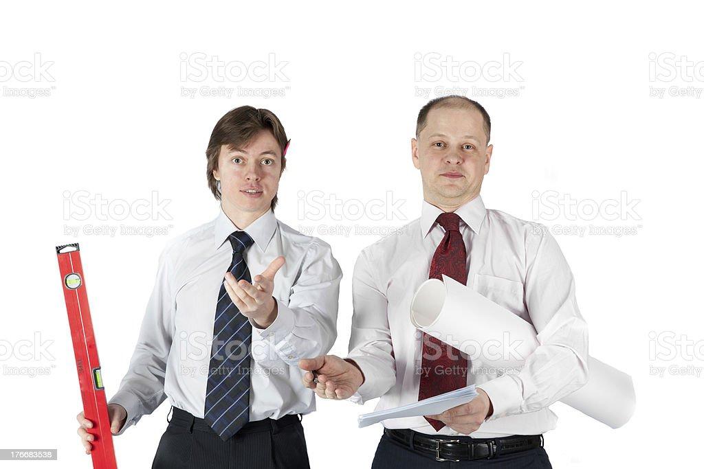two architect on a white royalty-free stock photo