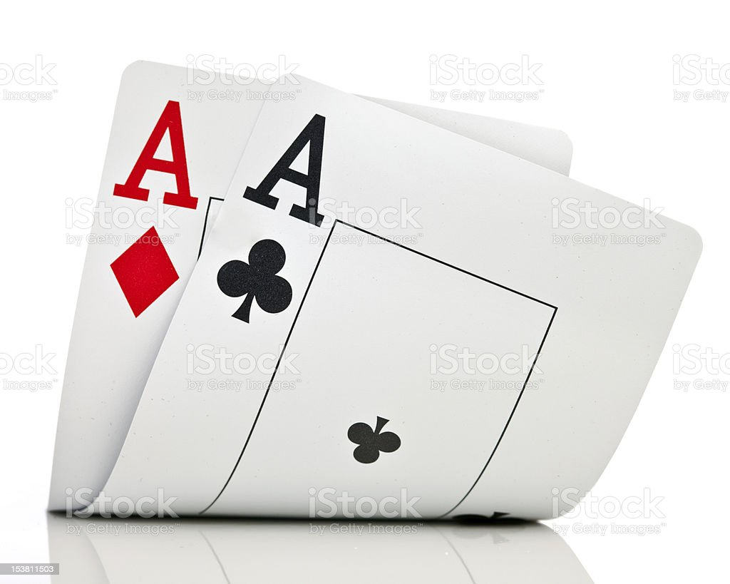 Two ases. stock photo