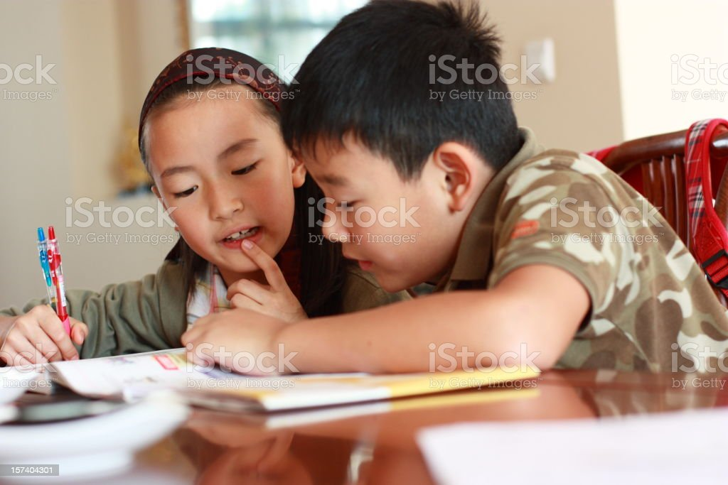 two asian kids royalty-free stock photo