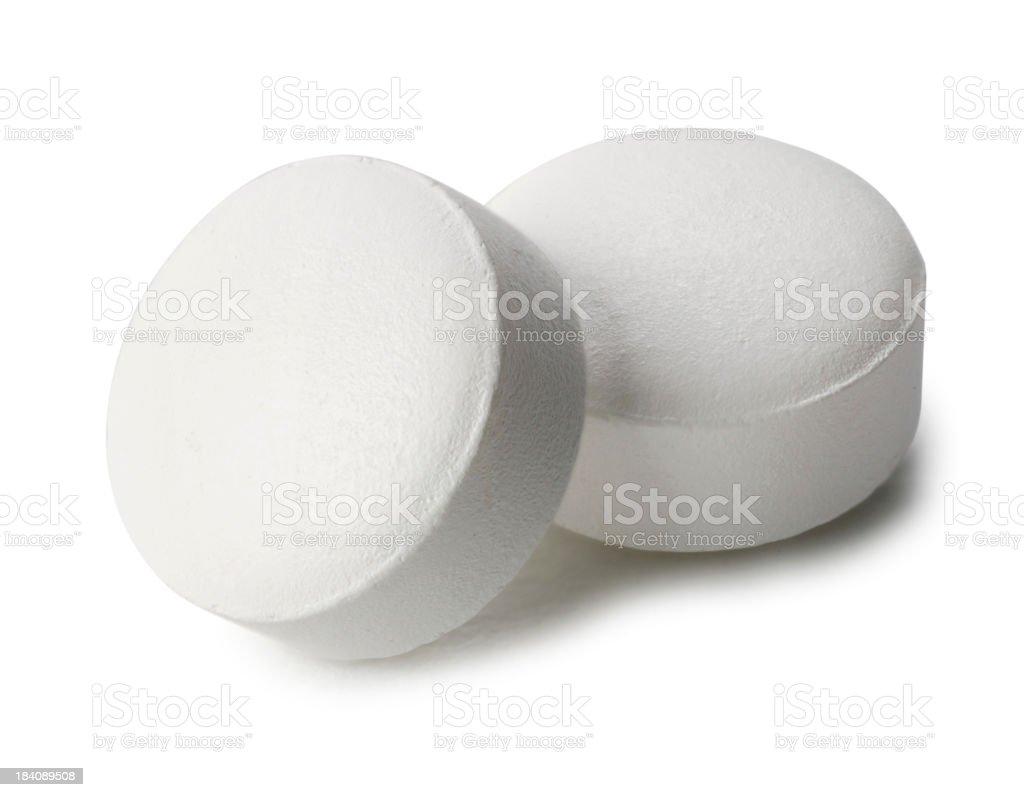 Two Aspirin royalty-free stock photo