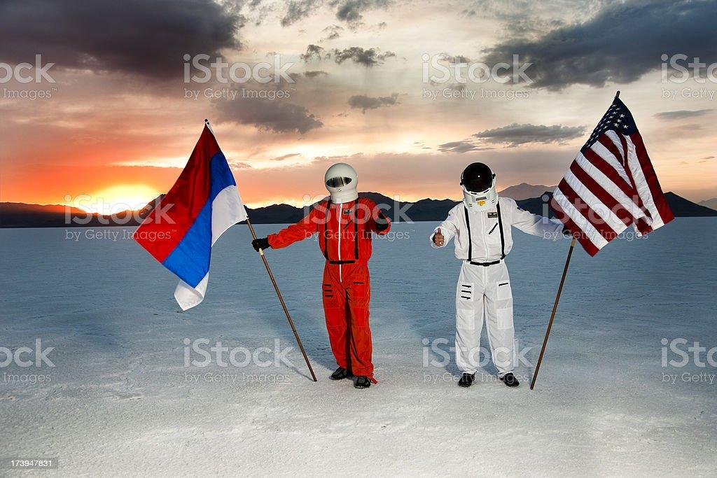 Two Astronauts stock photo