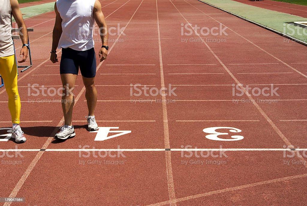 Two athletes trainning. royalty-free stock photo