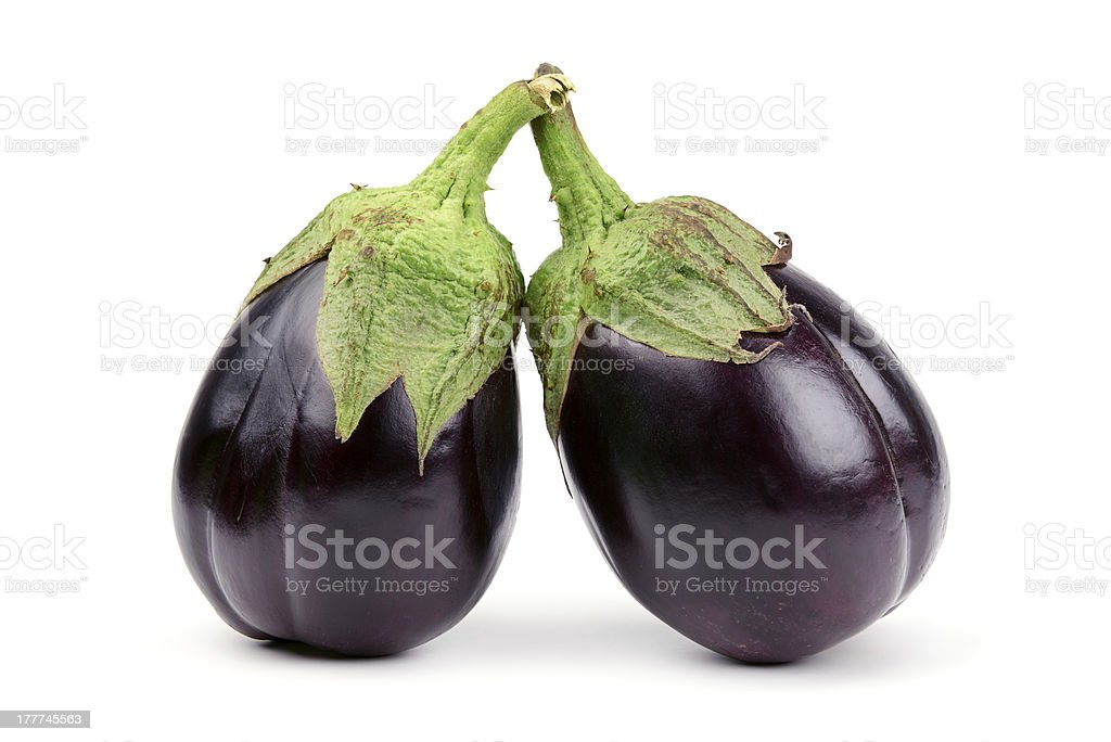 Two aubergine royalty-free stock photo