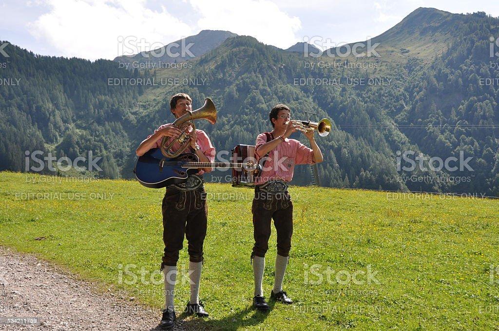 two austrian folk musicians royalty-free stock photo