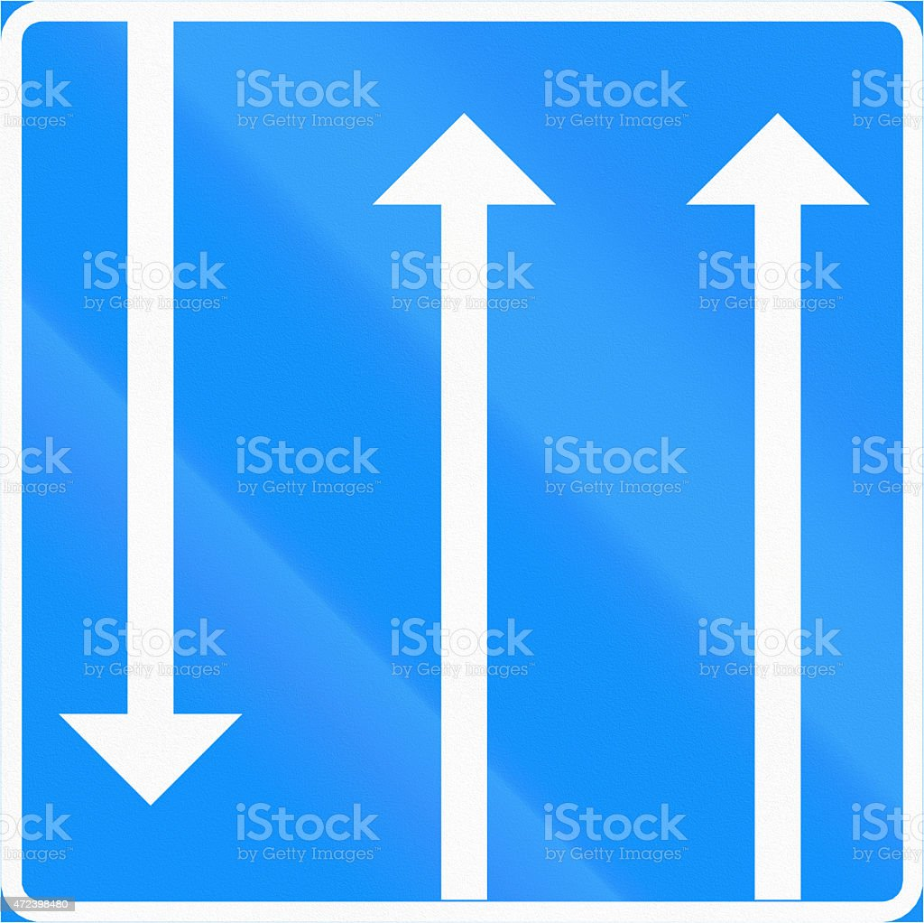 Two Available Lanes In Finland stock photo