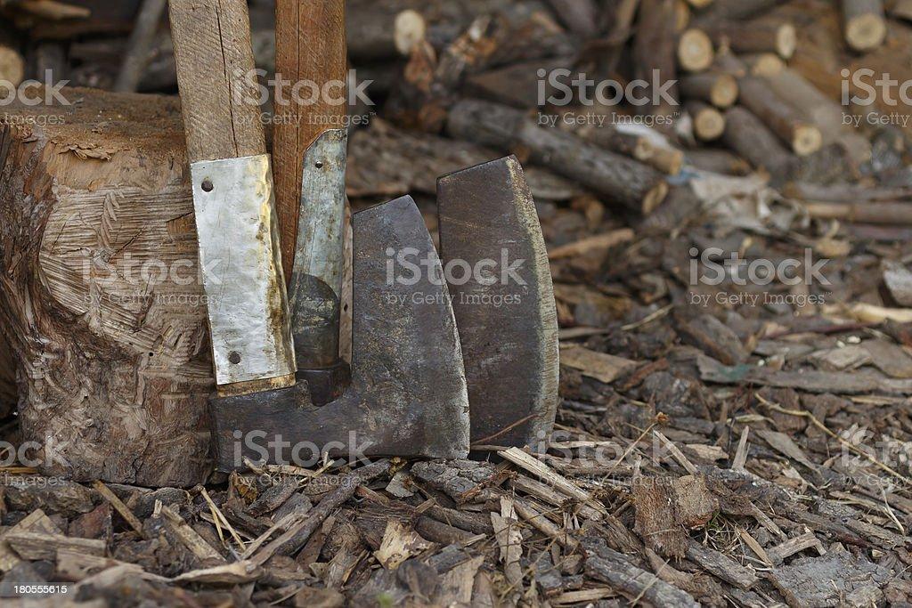 two axes royalty-free stock photo