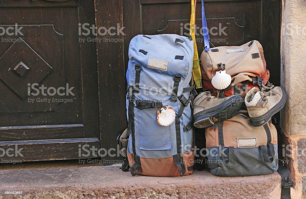 Two Backpacks. stock photo