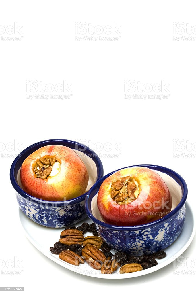 Two Baked Apples (Vertical) stock photo