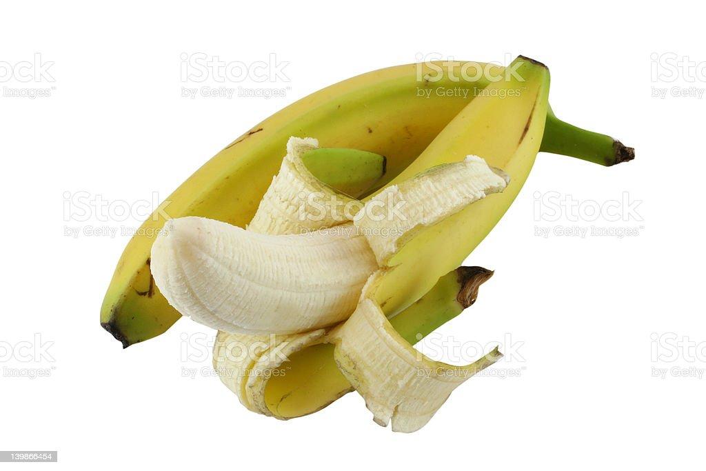 two bananas royalty-free stock photo