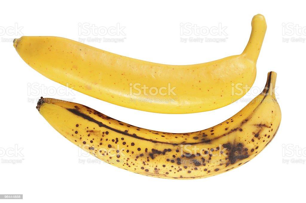 Two bananas. stock photo