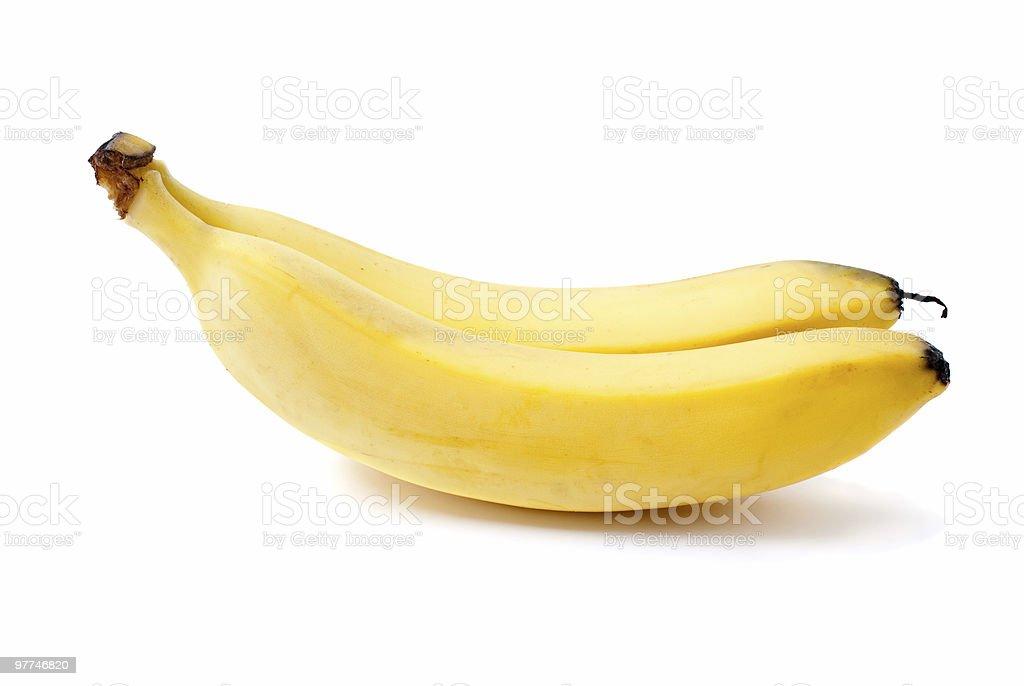 Dois bananas foto de stock royalty-free