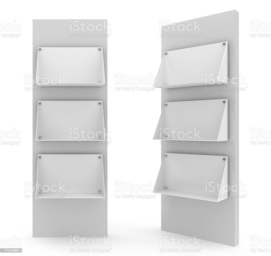 Two bank floor stands in white background stock photo