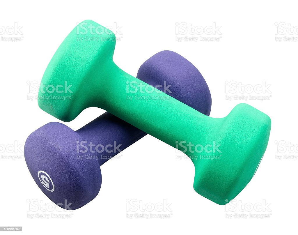 Two Barbells stock photo