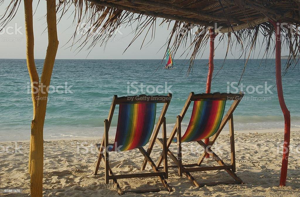 Zrelaksuj się na plaży zbiór zdjęć royalty-free