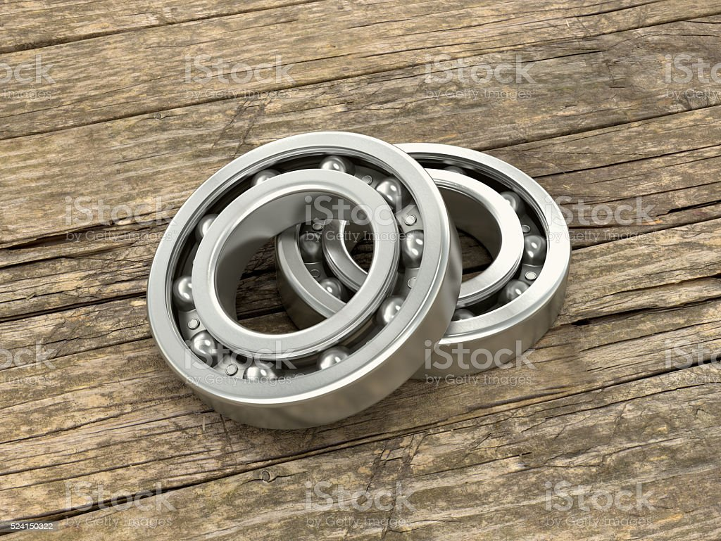 Two bearing on the background stock photo