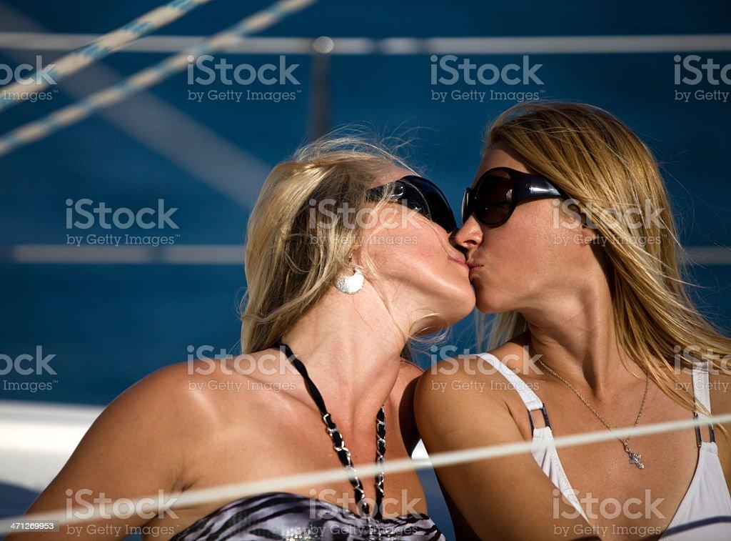 Two beautiful blonde women royalty-free stock photo