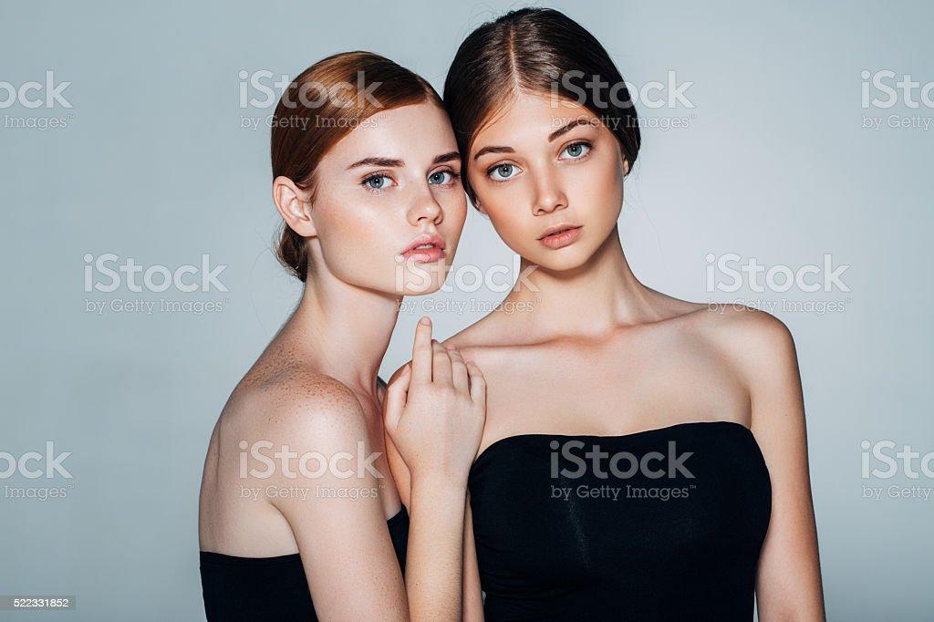 Two Beautiful Girls stock photo