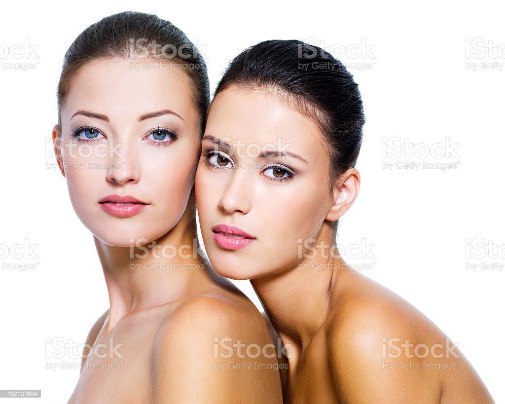 Two beautiful sexy women royalty-free stock photo