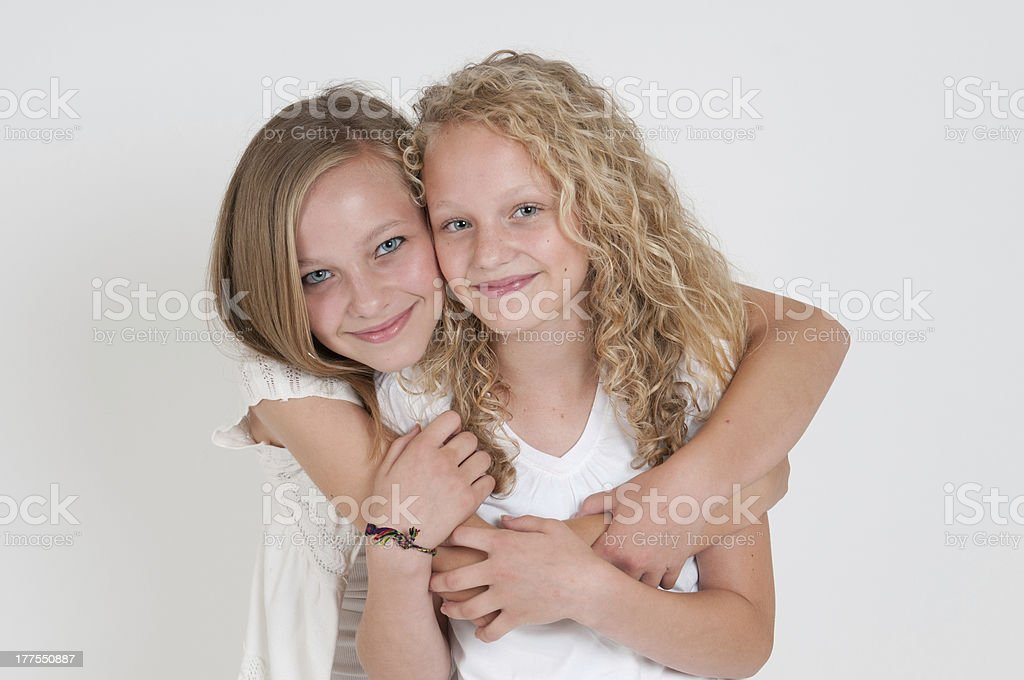 Two beautiful sisters royalty-free stock photo