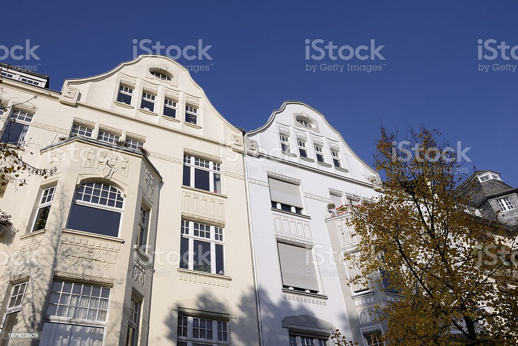 Two beautiful townhouses royalty-free stock photo