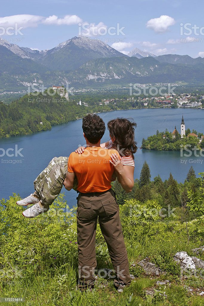 Two Beloved in a Paradise. VI royalty-free stock photo