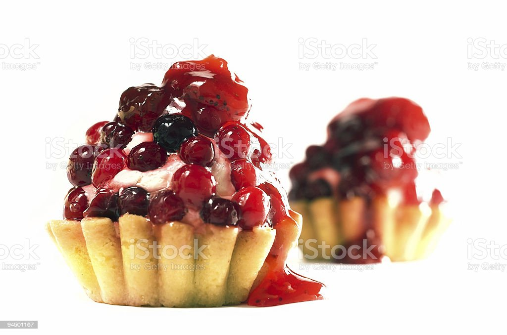 Two berry cakes royalty-free stock photo