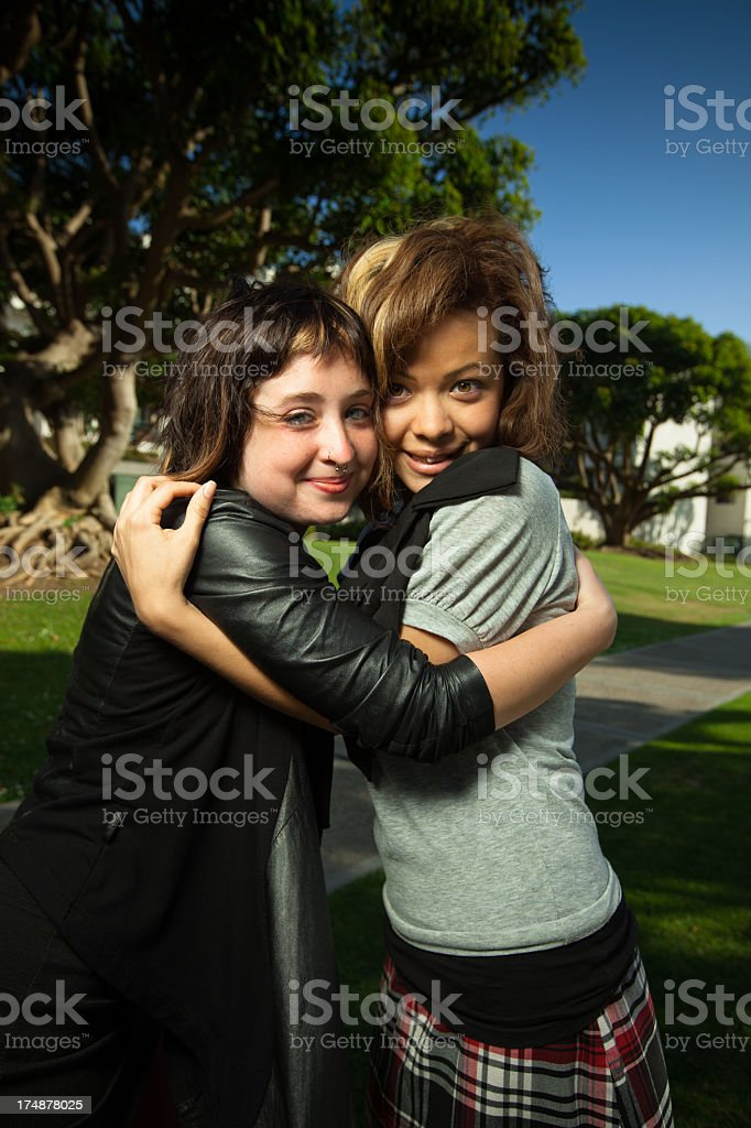 Two Best Friends Posing Together royalty-free stock photo