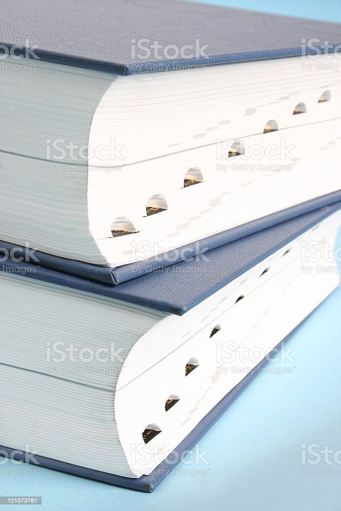 Two big books royalty-free stock photo
