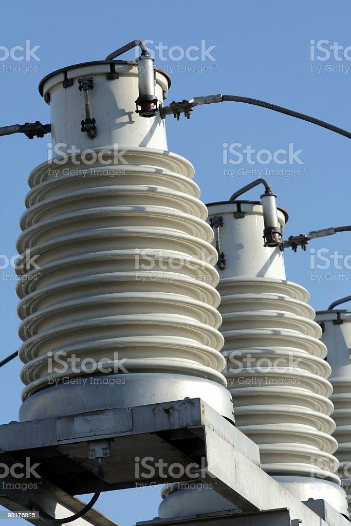 Two big insulators royalty-free stock photo