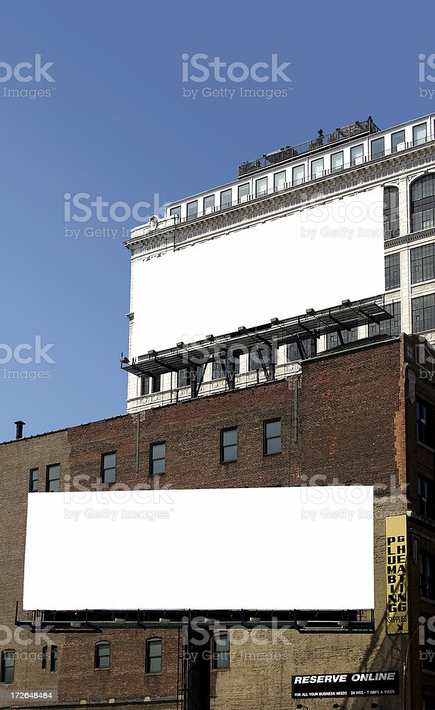 two billboards royalty-free stock photo