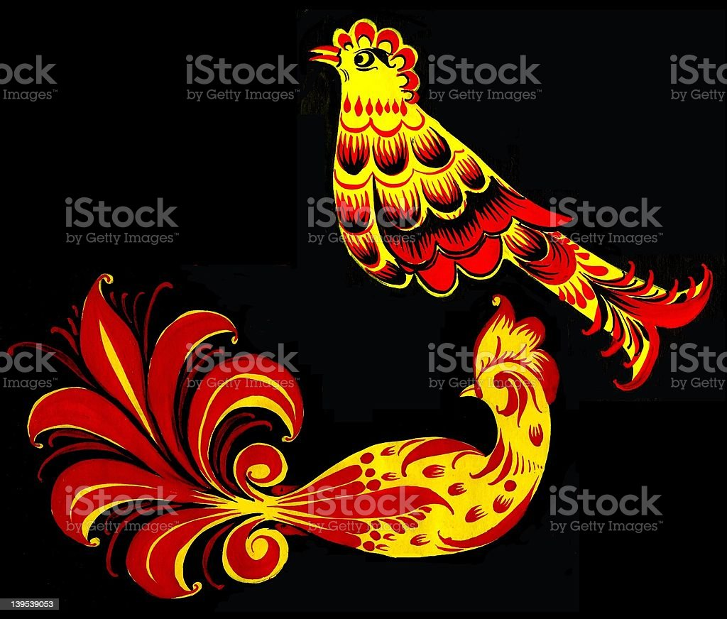 Two birds - drawing royalty-free stock photo
