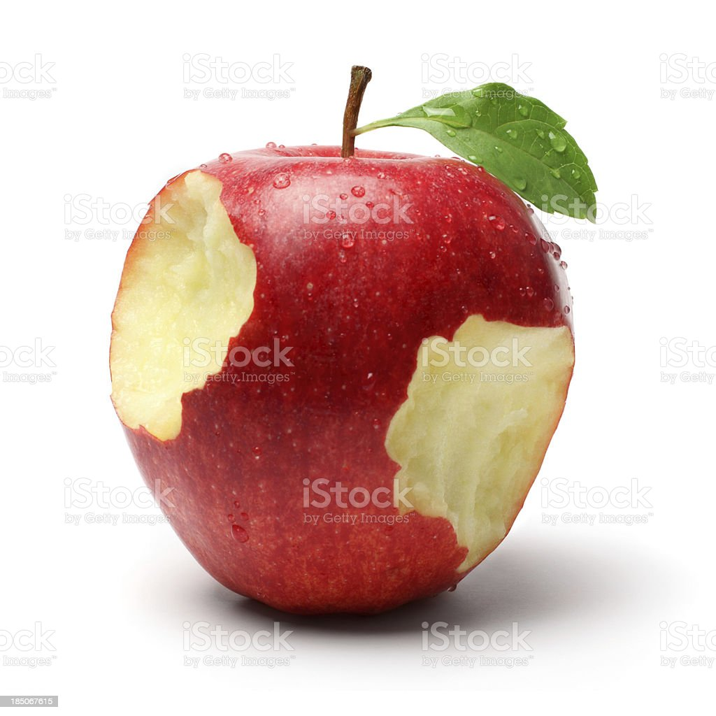 Two Bites on a Red Apple royalty-free stock photo