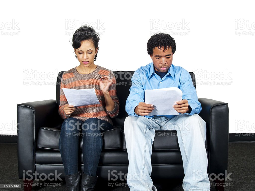 Two Black Actors are Applying for a Job royalty-free stock photo