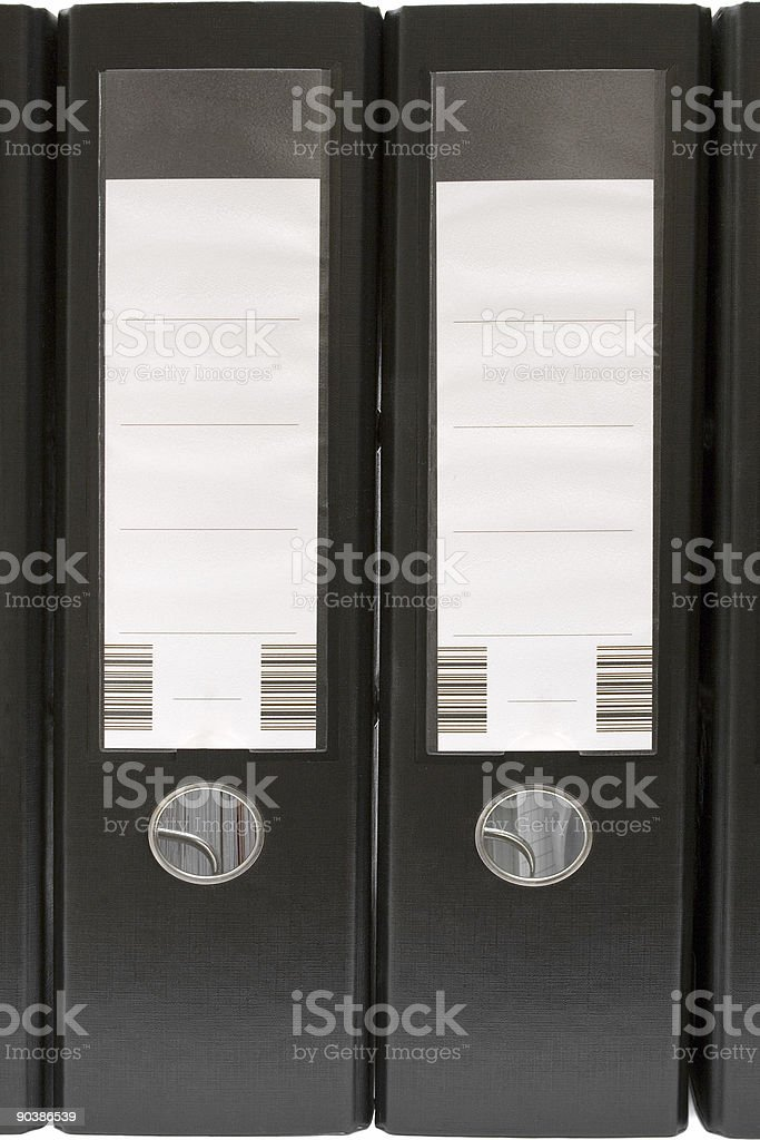 Two Black Arch Lever Files stock photo