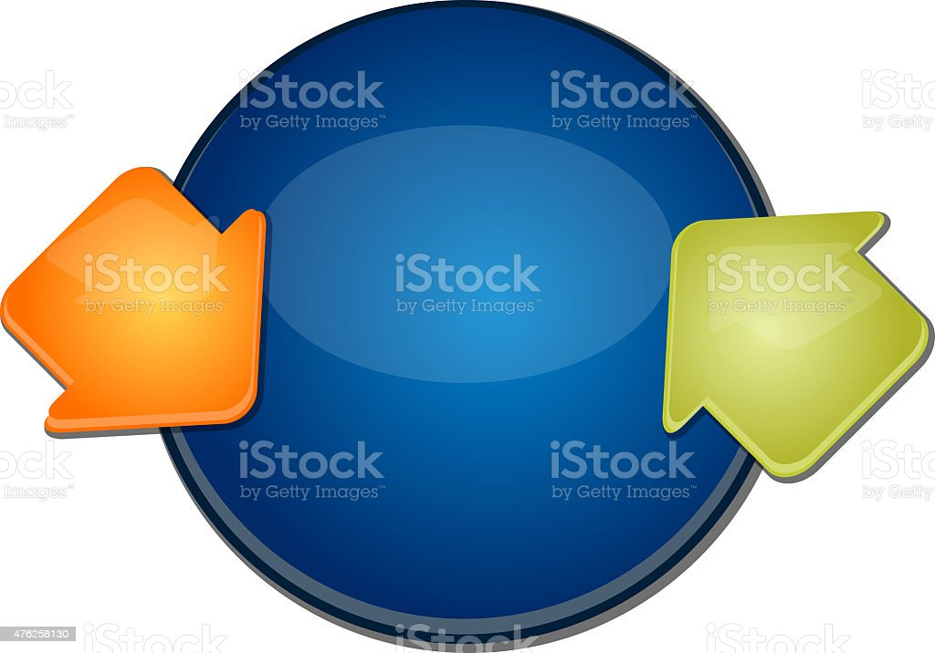 Two Blank cycle business diagram illustration stock photo