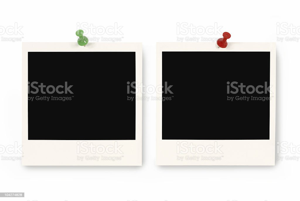 Two blank instant picture prints royalty-free stock photo