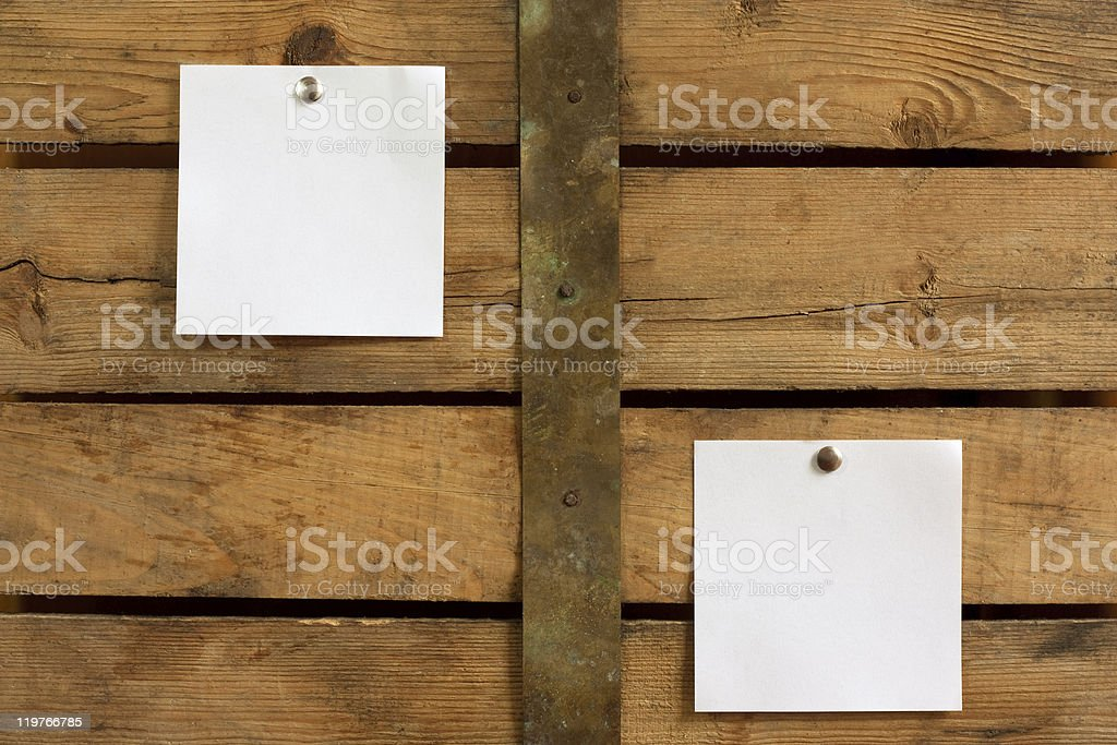 Two blank notes royalty-free stock photo