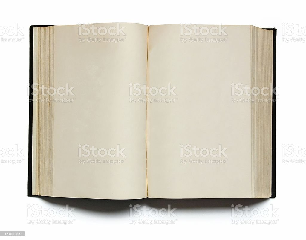 Two blank Pages in an empty old Book royalty-free stock photo